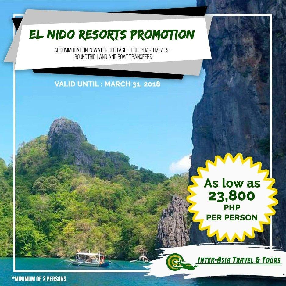 EL NIDO RESORTS PROMO! Travel Period until March 31, 2018 Except