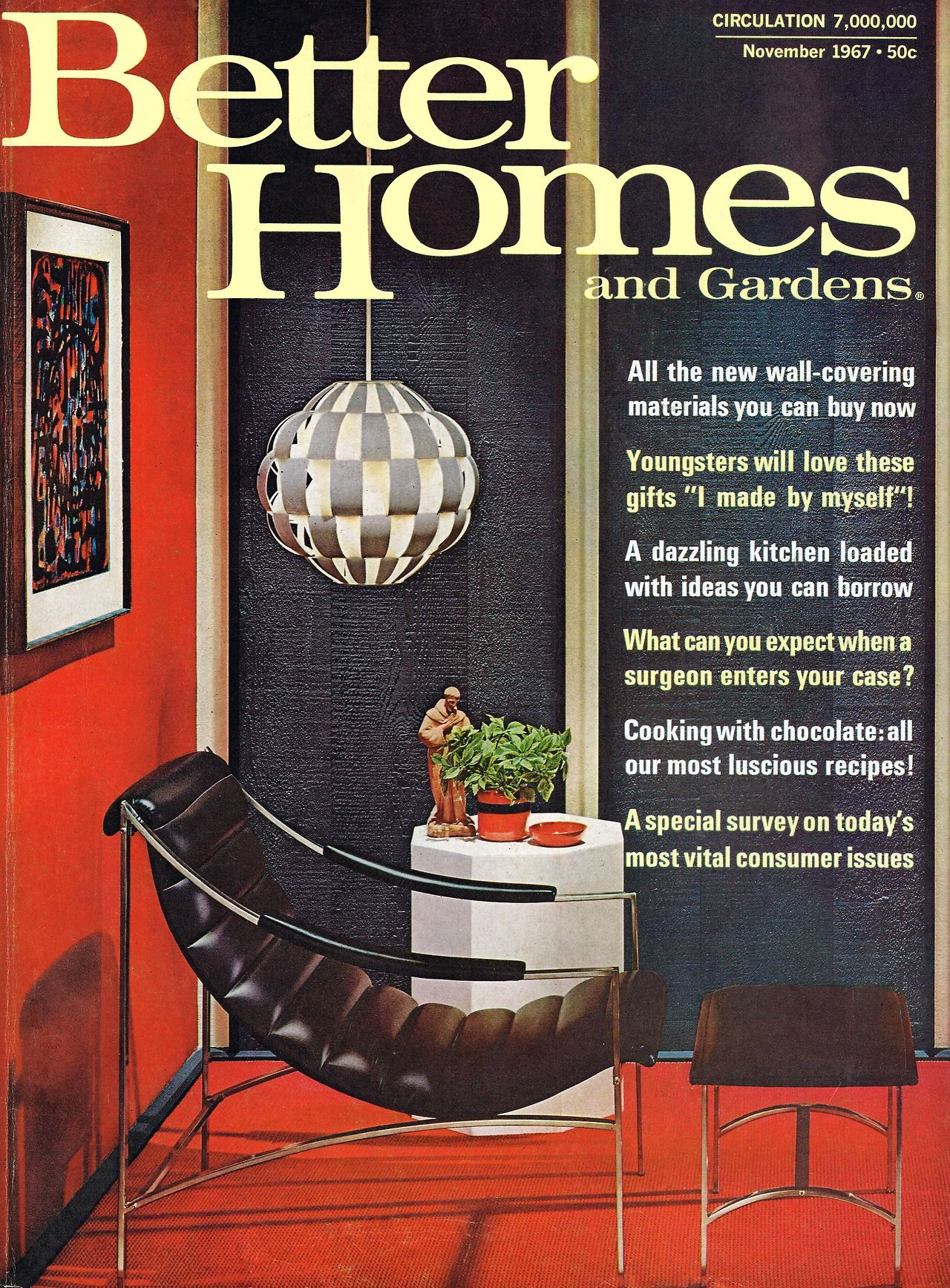 Better Homes And Gardens Magazine Cover November 1967 Better
