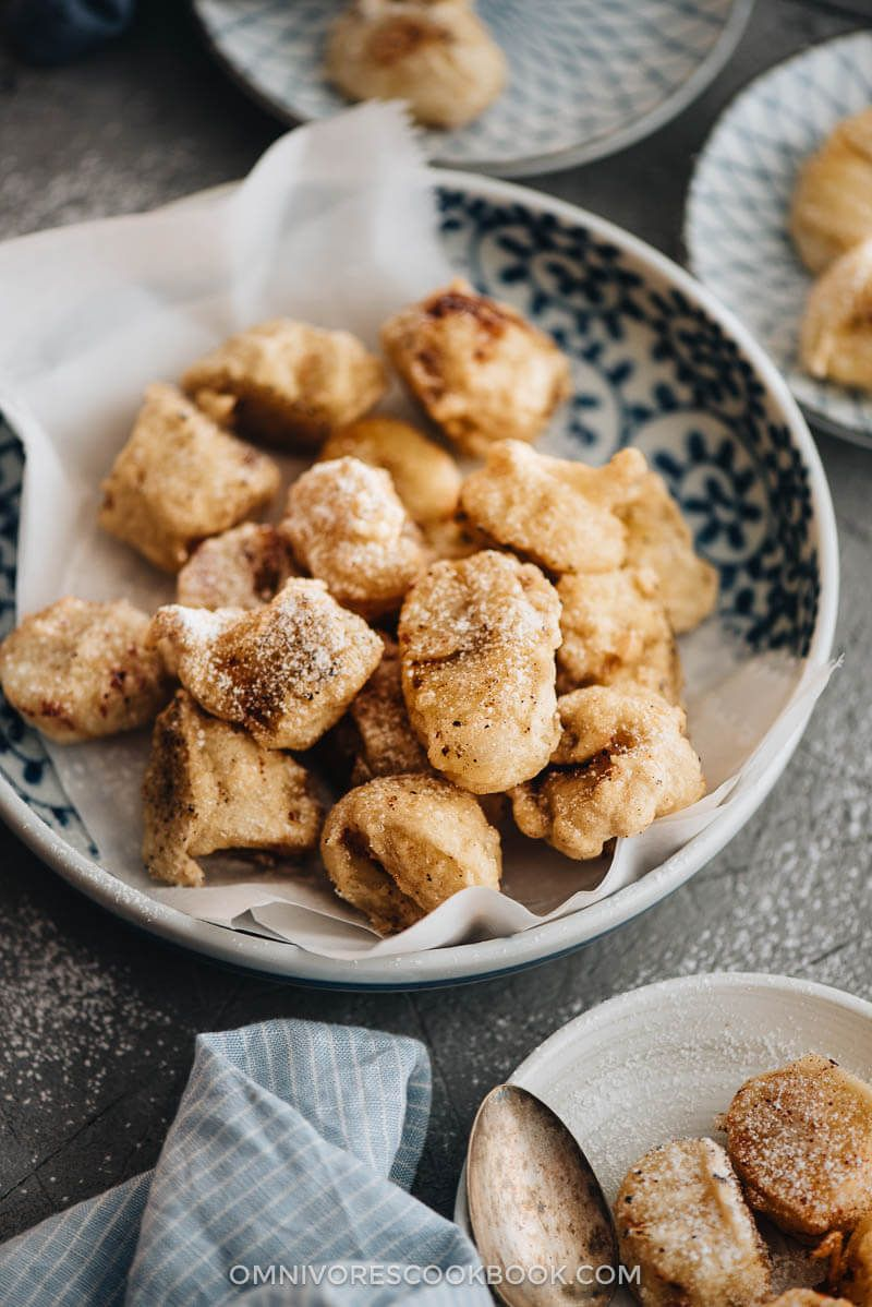 a lighter asian style banana fritter that is less calorie dense and still satisfies your sweet tooth banana fritters fried bananas fritters a lighter asian style banana fritter