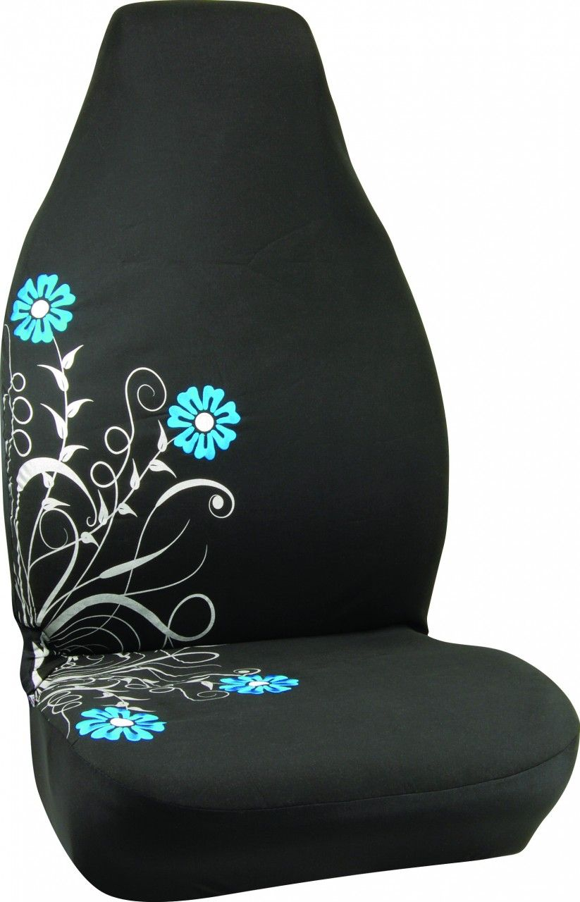 Pretty Silver And Blue Bucket Car Seat Cover Cars