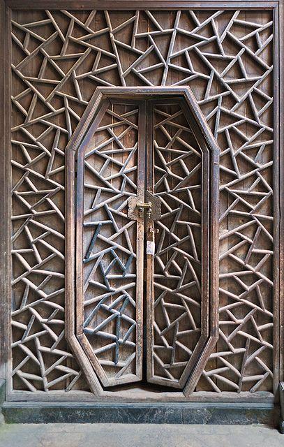 Antique Handcrafted Door, The village of Xidi, Anhui, China