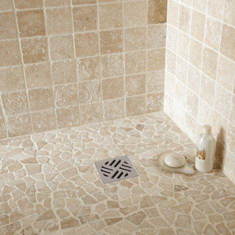 Wall And Floor Pebble Opus Ivory Travertine Shower Travertine
