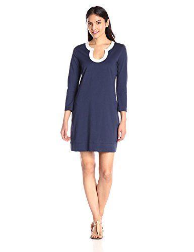 Lilly Pulitzer Women's Marlina Dress True Navy - http://darrenblogs.com/2016/04/lilly-pulitzer-womens-marlina-dress-true-navy/