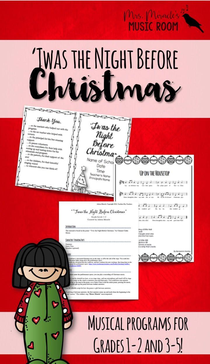 Twas the Night Before Christmas Musical Program | Curriculum ...
