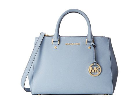 Pale blue satchel handbag from MICHAEL Michael Kors. #purses #bags ...