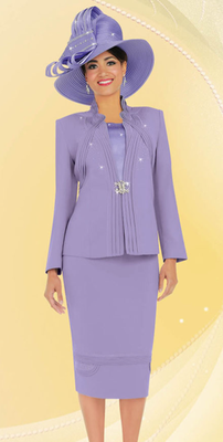 Ladies 3 Piece Executive Church Suit In Lavender Easterdress Suit