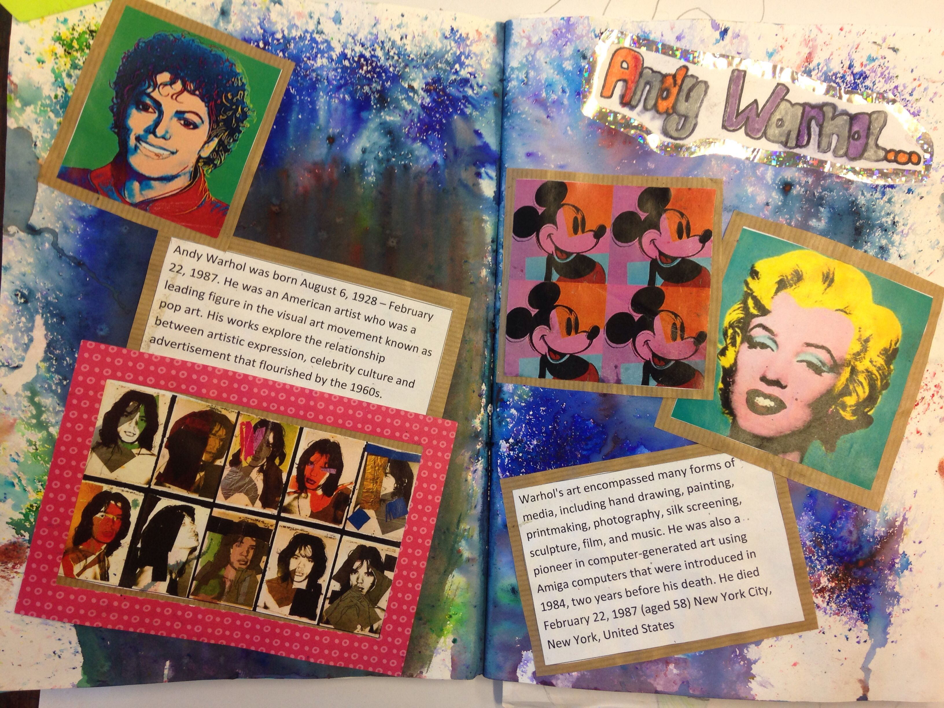 Gcse Art And Design Year 10 Popular Culture Andy Warhol