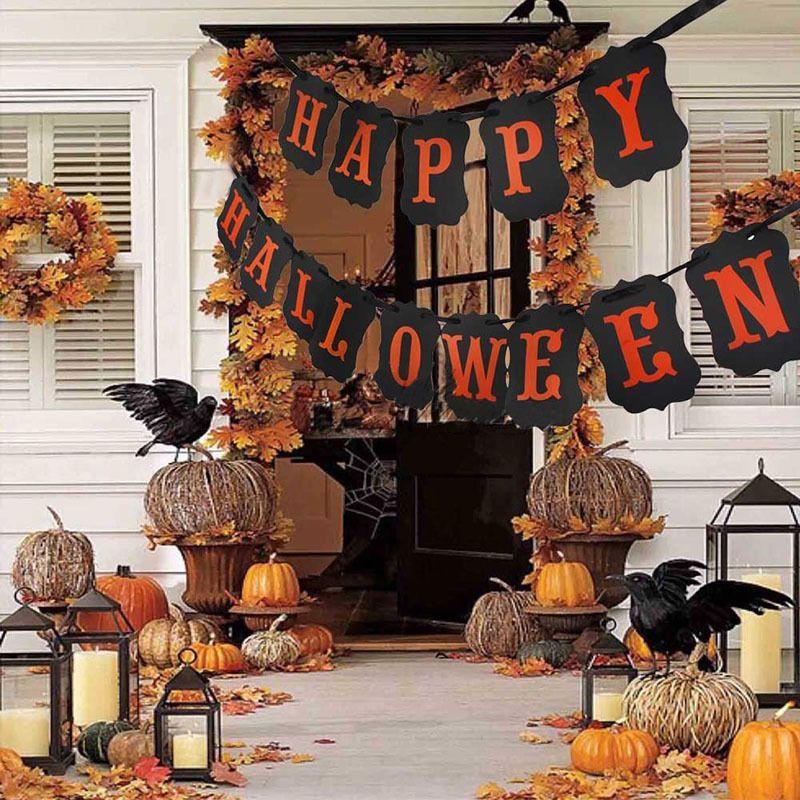 1pc Happy Halloween Pumpkin Door Decor Hanging Party Decoration