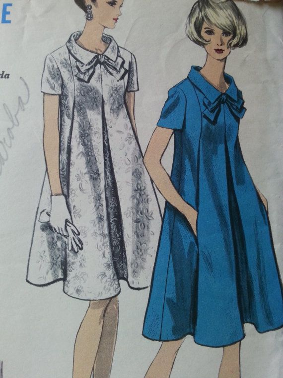 Vintage Sewing Pattern: Dress, Vogue 6991, Size Small or 12, 1960s ...