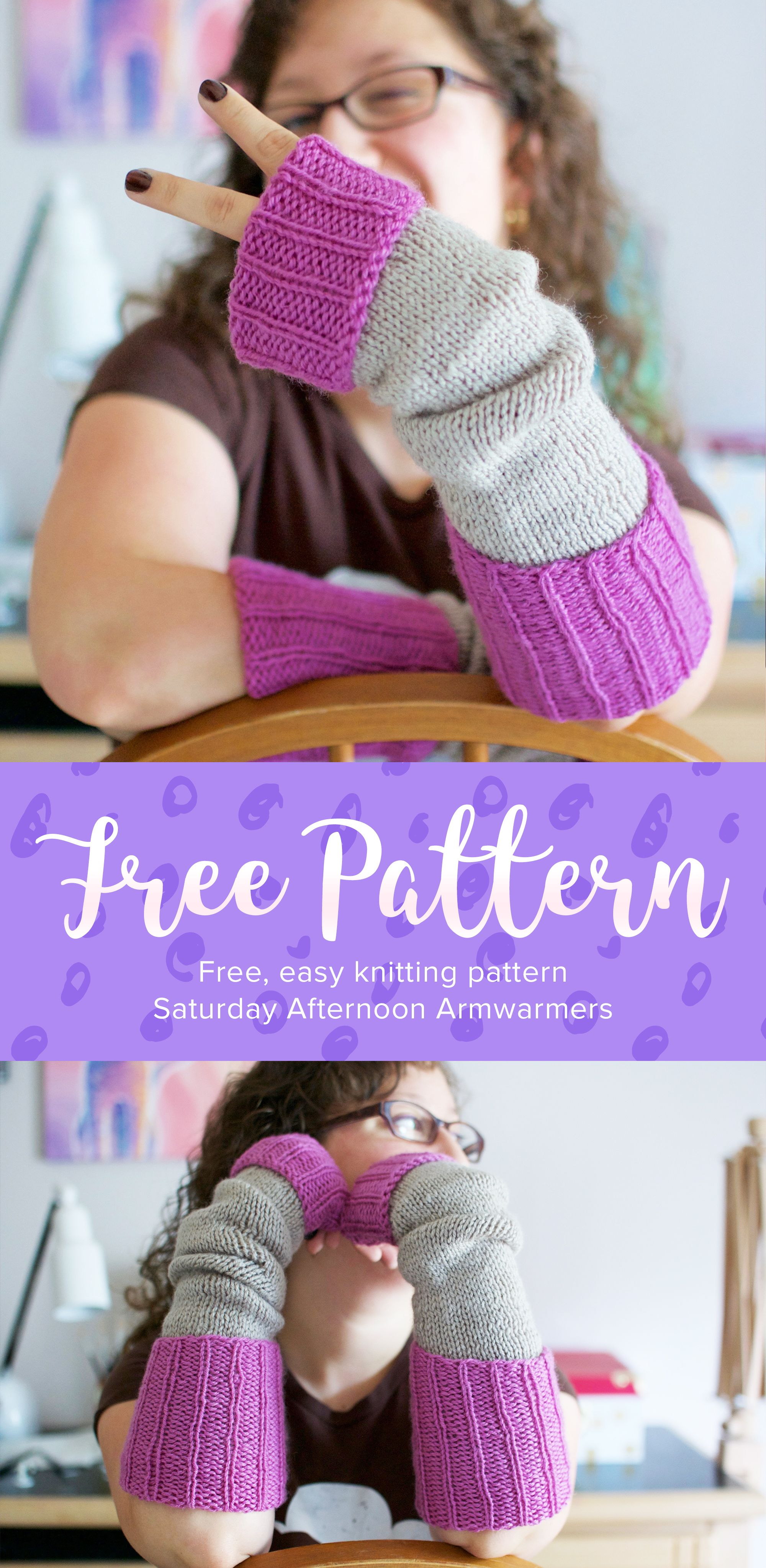Knitting these armwarmers is like reading your favorite ...