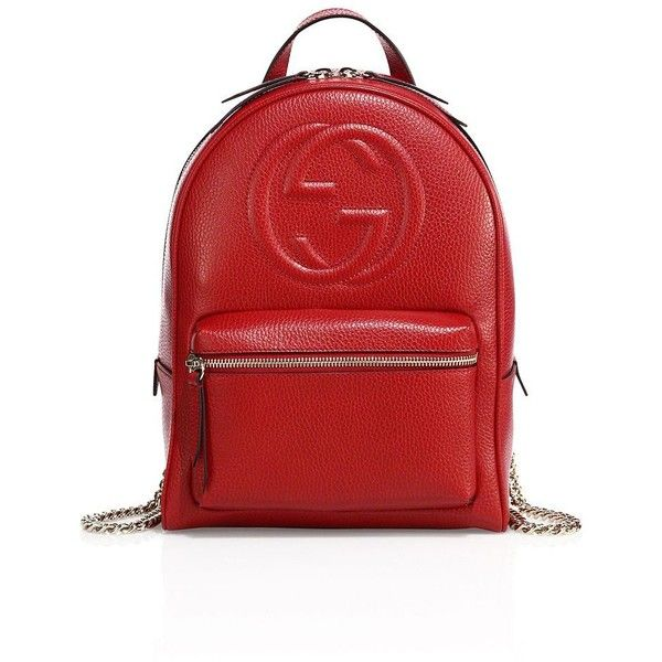 Leather Chrismas Red Backpack Daypack Bag Women