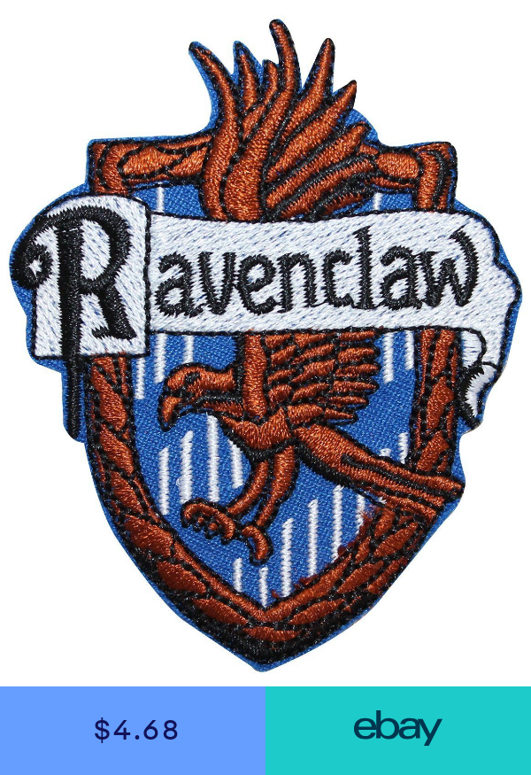 Harry Potter Ravenclaw House Crest Embroidered Ironsewn On 3 Patch Ravenclaw Harry Potter Ravenclaw Harry Potter Patch