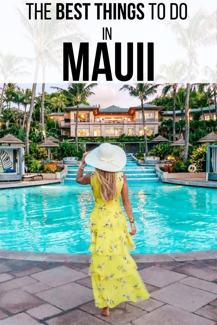 Whether you are traveling to Maui, Hawaii in the summer or winter, it is the perfect vacation destination spot to explore. From beaches to day trips including the Road to Hana, there are so many things to do in Maui. In my post, I give you the ultimate guide and itinerary on where to stay in Maui, places to visit in Maui, where to eat in Maui, how to travel to Maui on a budget and so many more Maui travel tips. #Honeymoon #hawaii #Outfits #Resorts #TravelGuide #Maui #thingstodoinmaui #mauiisland
