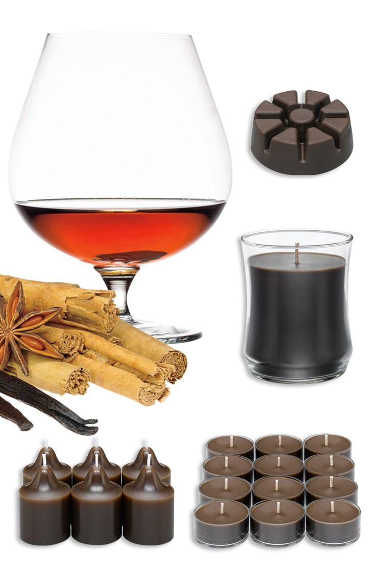 Syksyn uutuustuoksu Mausteinen konjakki: Lämmittele nauttien savuisten mausteiden ja vaniljaisen täyteläisen konjakin tuoksusta. Mukana vaniljaa ja metsän aromeita.