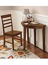 Half Moon Flip Table — small space dining   Gold Violin