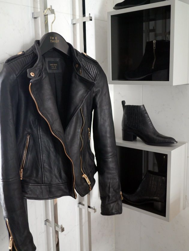 Want this leather jacket so much!