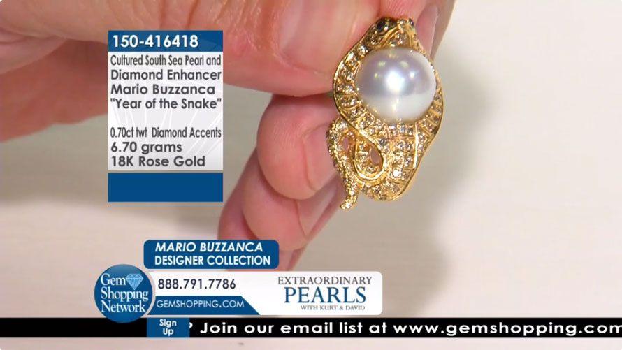 Mario Buzzanca Cultured South Sea Pearl & Diamond 18K Rose Gold