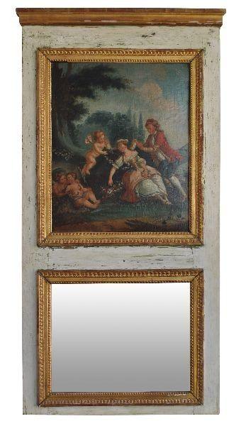 miroir trumeau style Louis XVI époque XIXème 1 300,00 \u20ac Le style