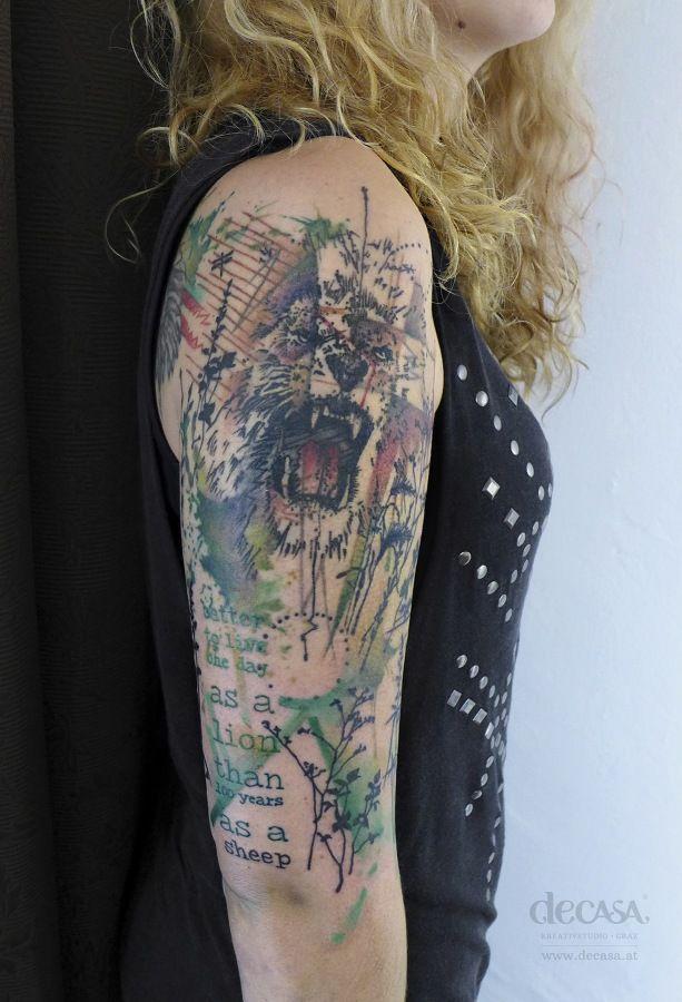 tattoo gallerie decasa tattoos pinterest tattoo ideen l win und l wenkopf tattoos. Black Bedroom Furniture Sets. Home Design Ideas