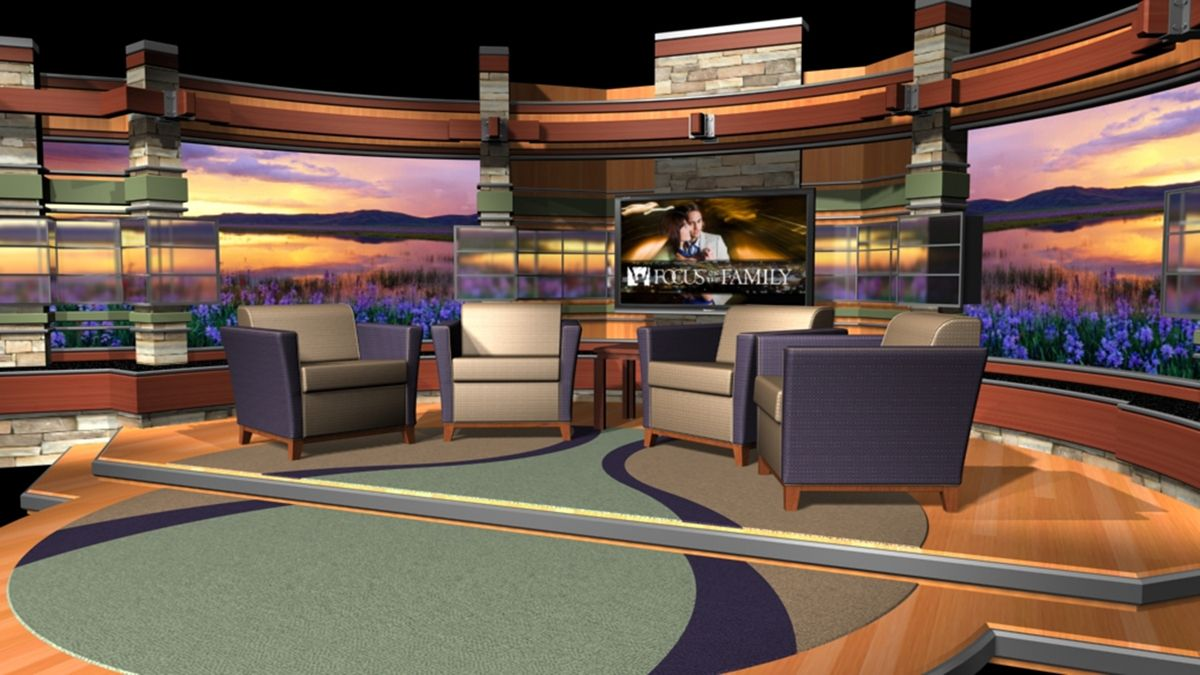 Tv Interview Set Design Park Place Studio Tv Set Design Stage Design Studio #television #set #living #room