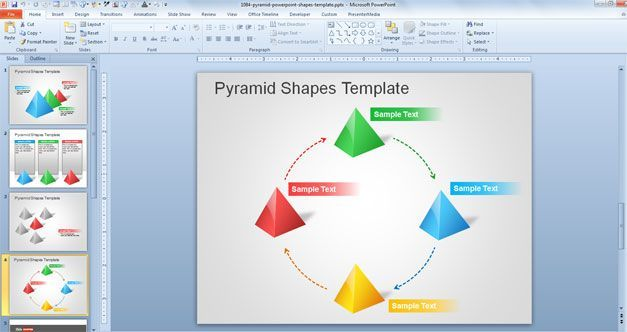 Pyramid PowerPoint Shapes Template Pyramid PowerPoint Shapes - pyramid template