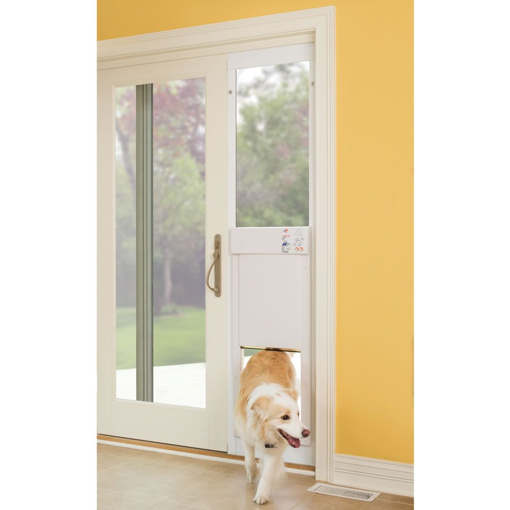The Automatic Electronic Pet Door Hammacher Schlemmer Pet Door Dog Door Pet Doors