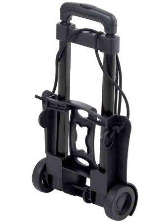 HELIT Trolley rabattable en métal Cap 30 Kg Noir