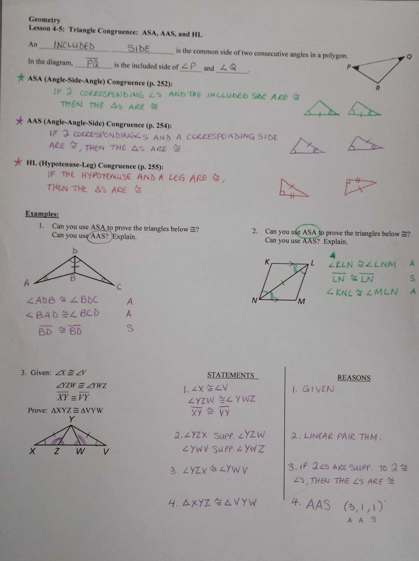 Congruent Triangles Worksheet Answers Congruent Triangles