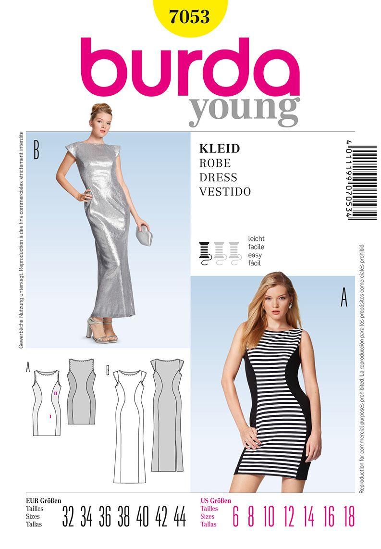 Burda Young 7053 knit dress | Burda Envelop Pattern Wishlist | Pinterest