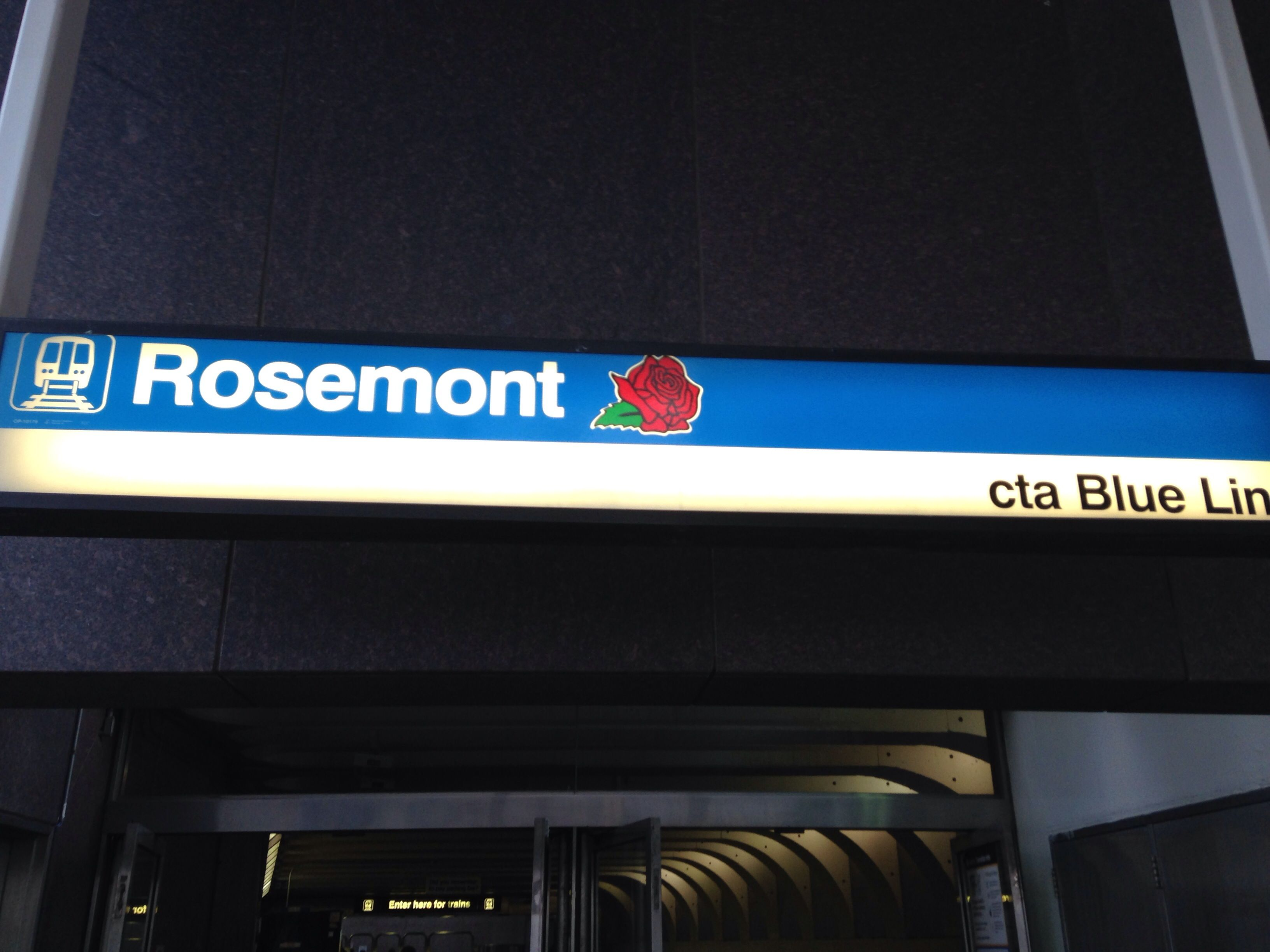 The CTA map onboard a subway