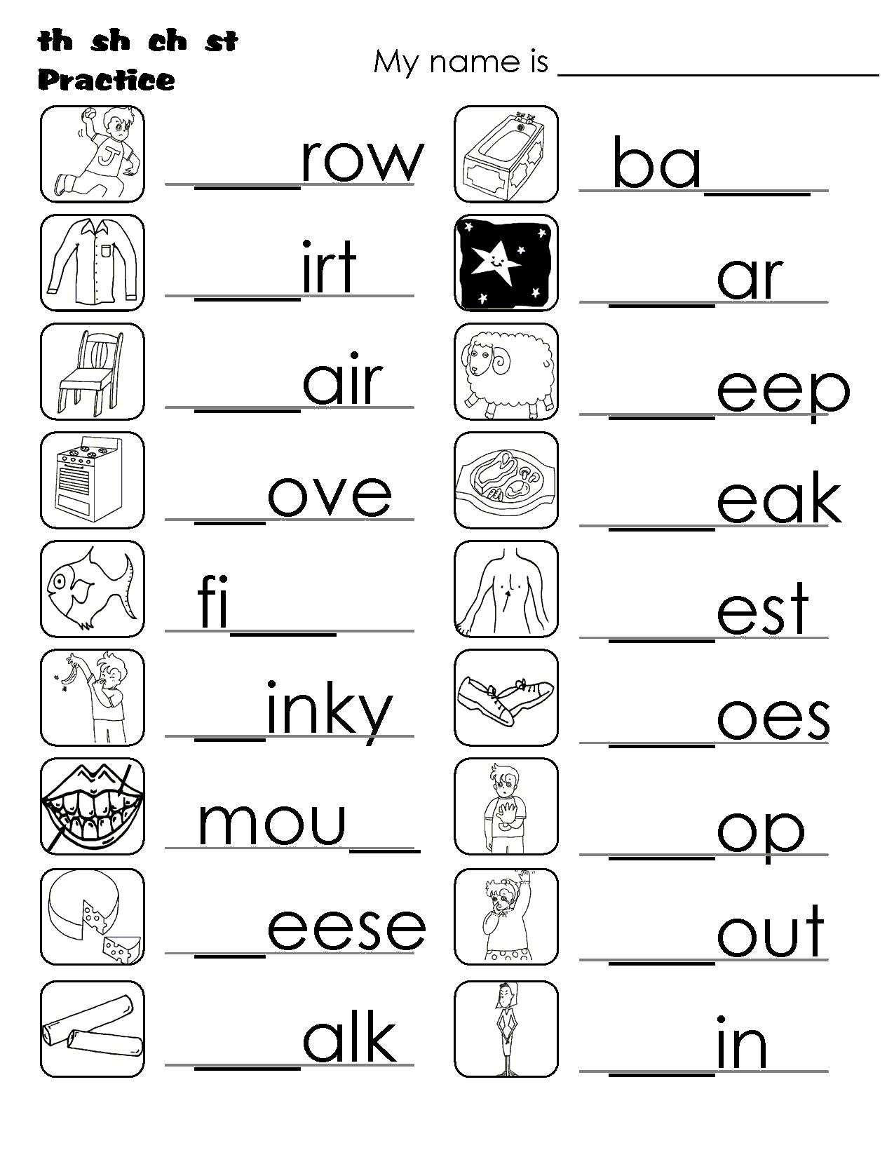 Printable Worksheets Blending Sounds In
