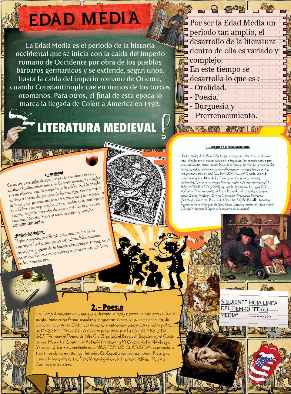 Edad Media Edad Media Romanticismo Literatura Clases De Historia Del Arte