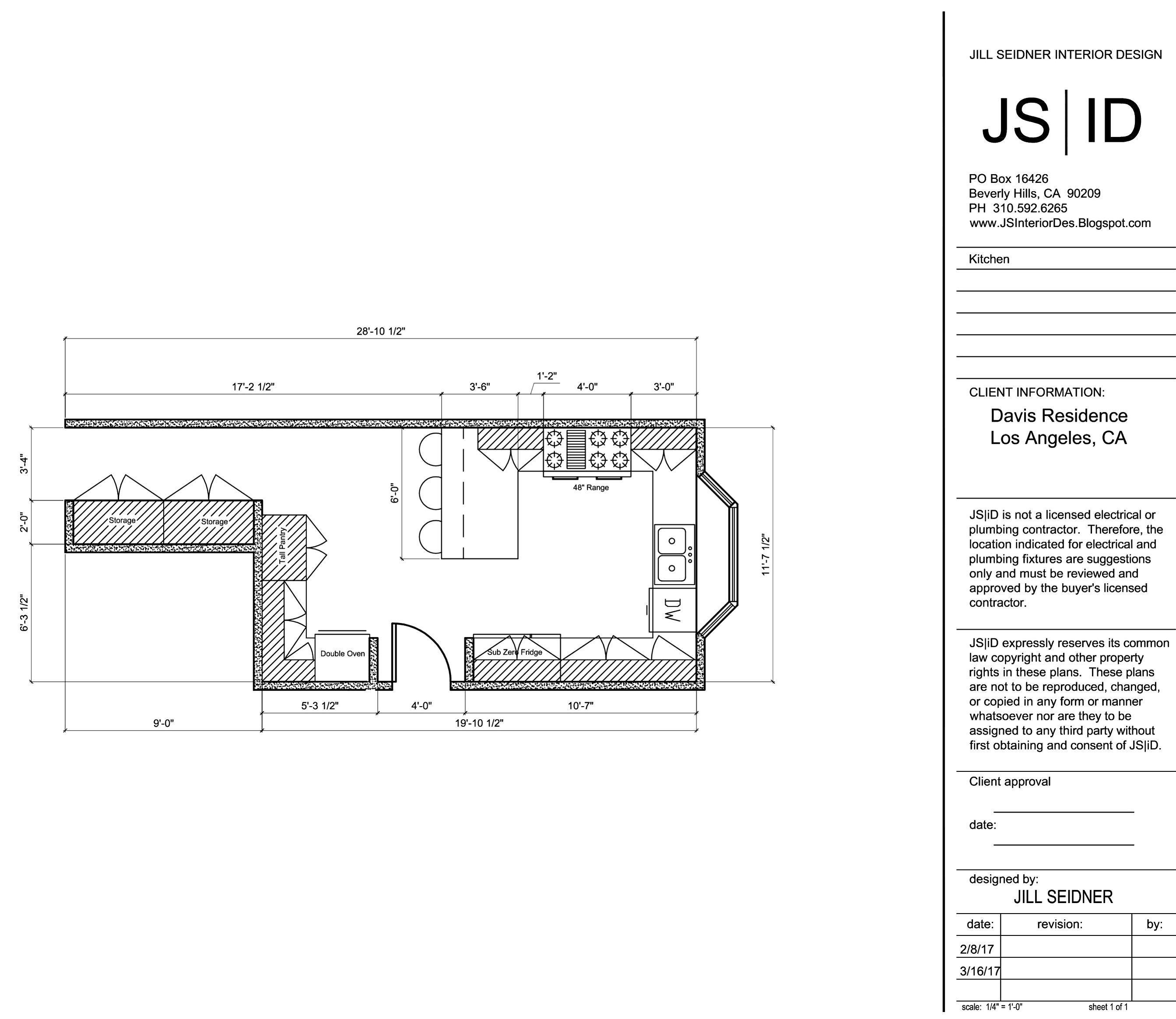 Bel Air, CA Residence Kitchen Remodel Plan.   Kitchen remodeling ...