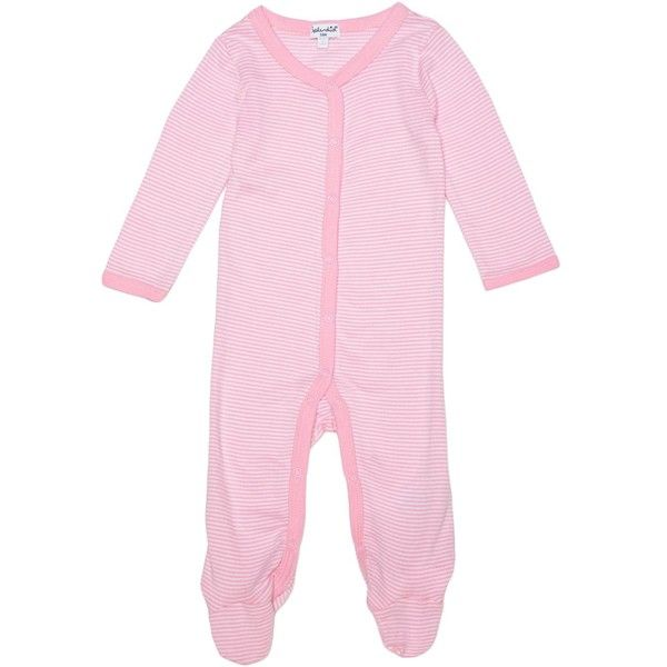 Splendid Baby Girl Footed Coverall (130 BRL) ❤ liked on Polyvore featuring light pink