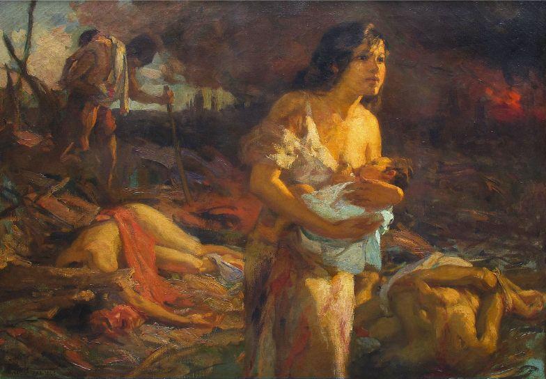 the burning of manila fernando amorsolo