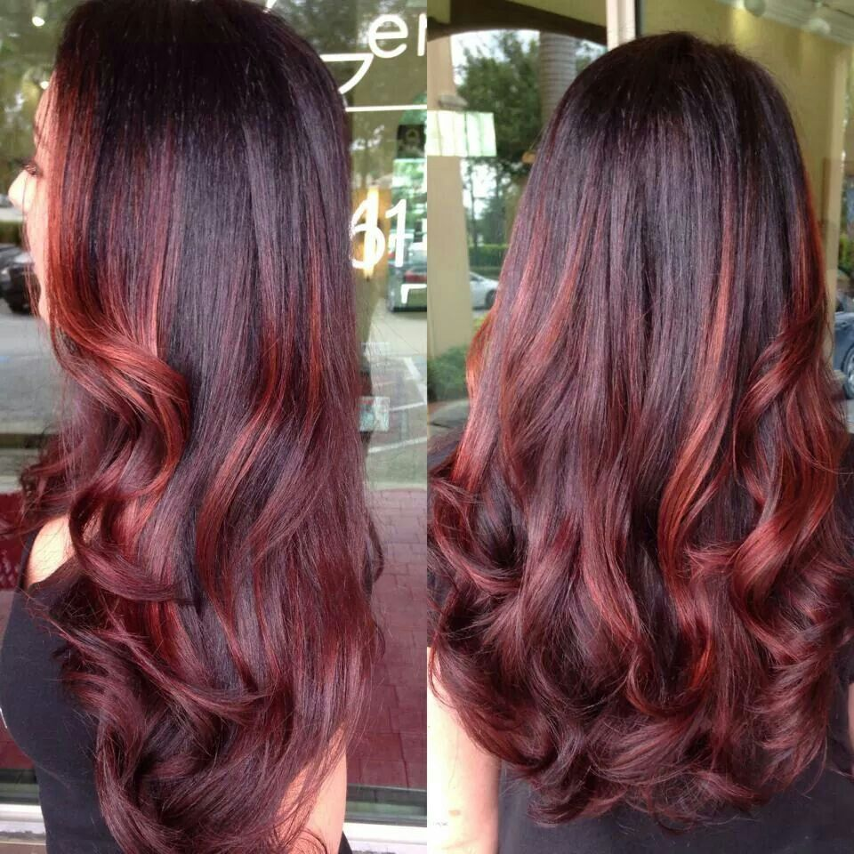 Autumn Red Hair Styles Ombre Hair Color Hair Highlights