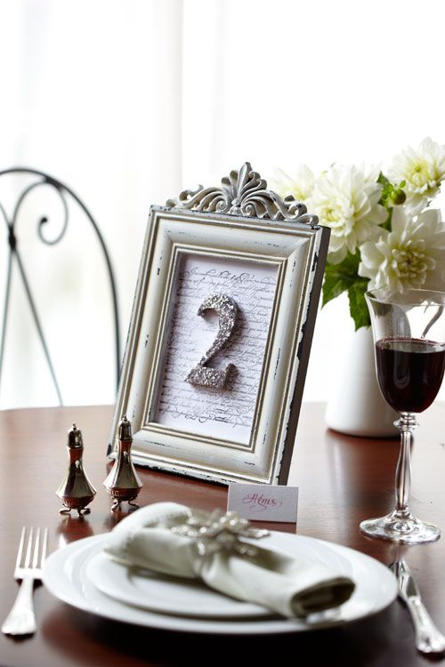 Diy Wedding Table Number In Silver For Step By Instructions Visit