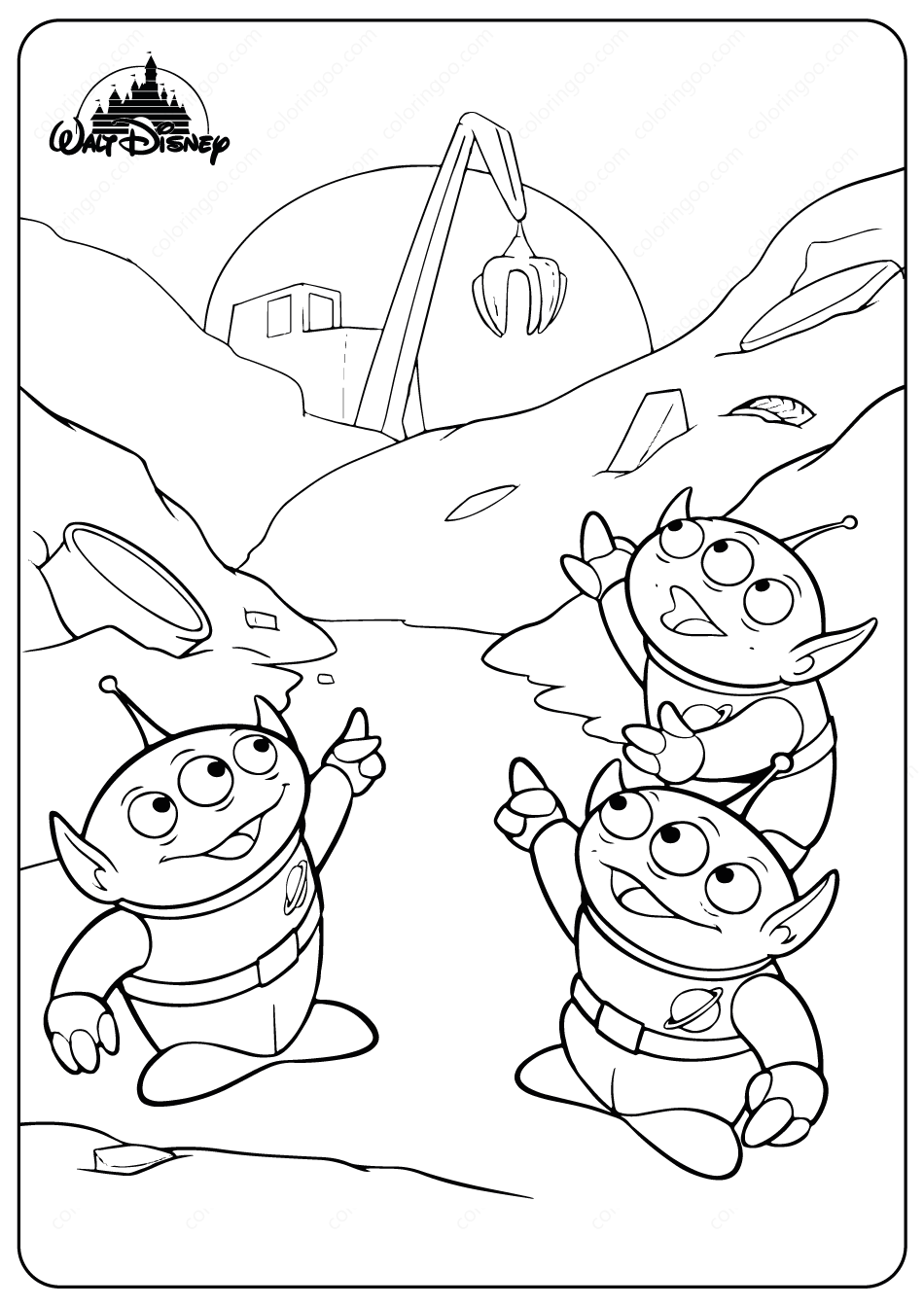 Toy Story Aliens Coloring Pages #disney #aliens #toystory ...