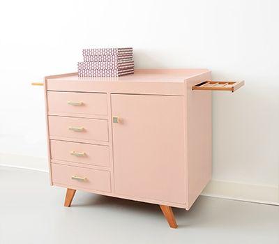vintage commode - oud roze | artikel | feestrijk.nl | henk, Deco ideeën