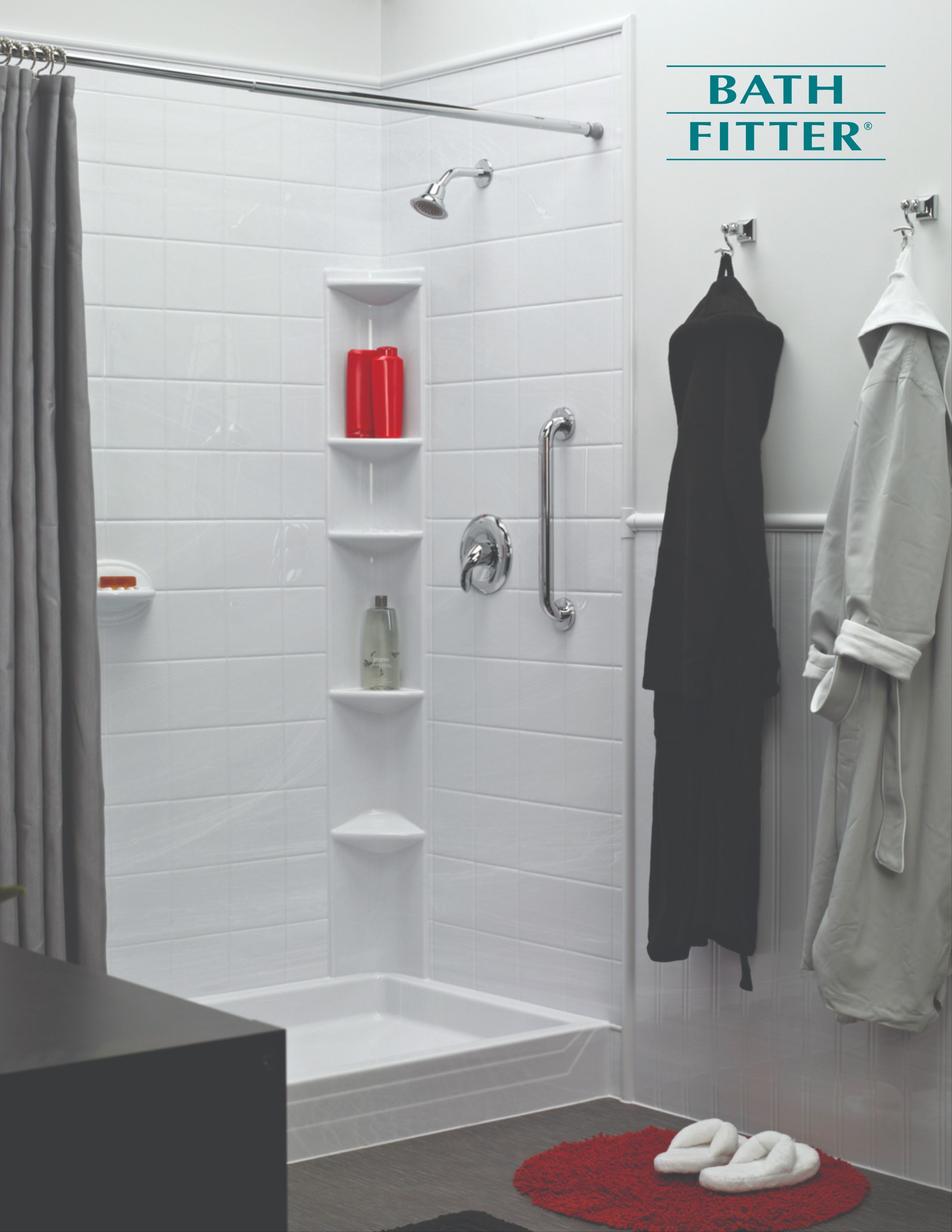 Napoli White Shower In 2020 Bath Fitter Fitted Bathroom White Shower