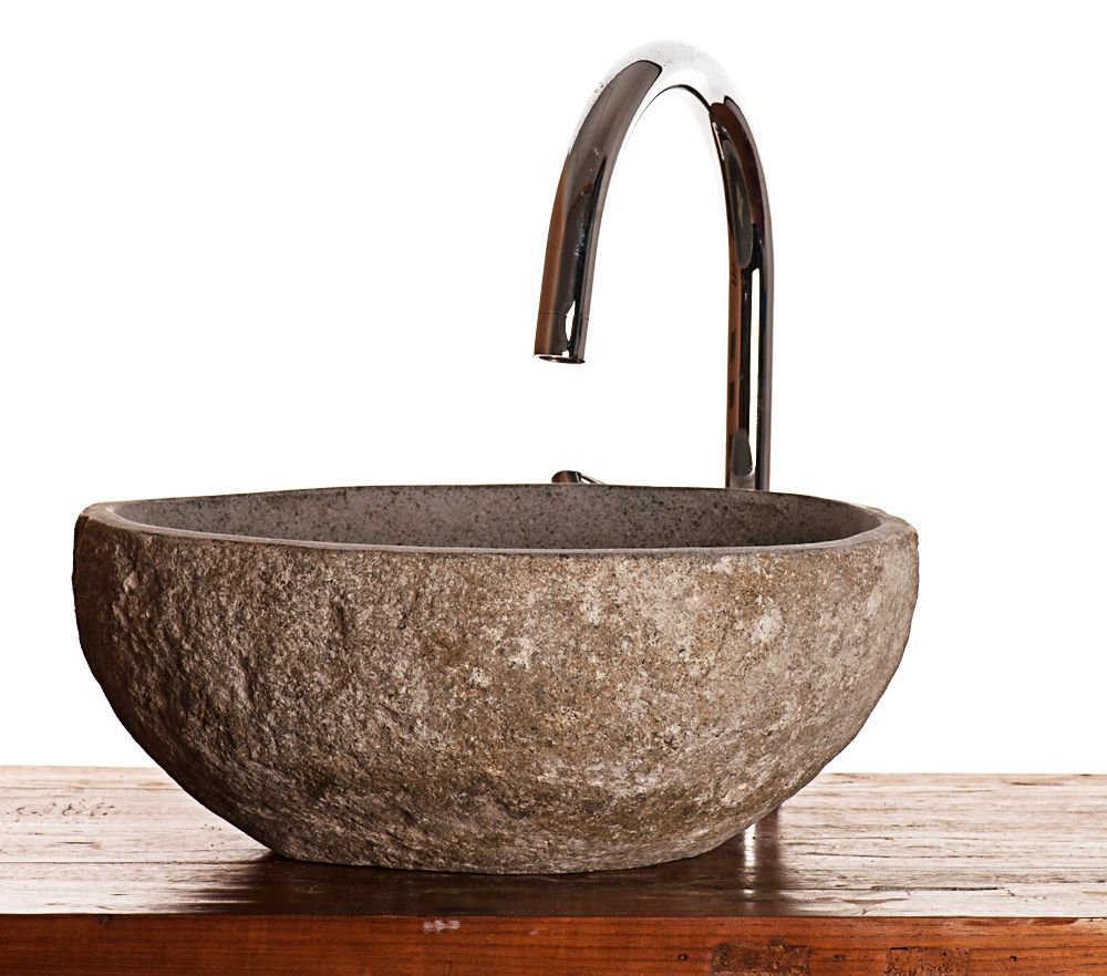 River Rock Granite Mini Bathroom Sink Stone Wash Basin £79.99 This ...