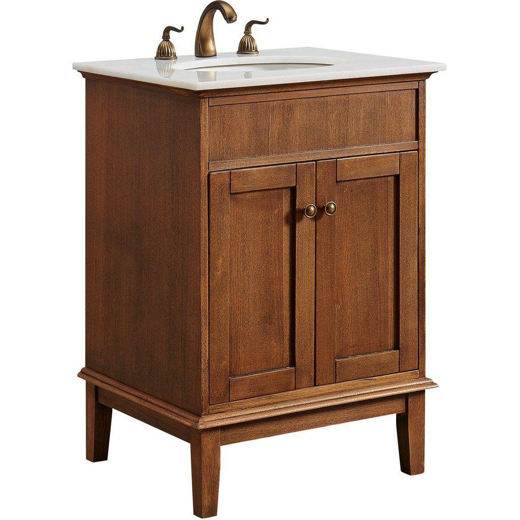 Sutton 24 X 35 2 Door Vanity Cabinet Chestnut Wood Finish