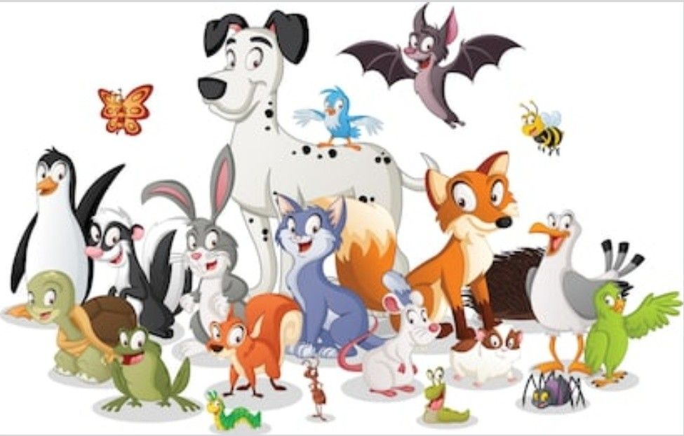 Pin By Hc Chou On Drawings And Paintings Happy Animals Cartoon Animals Animal Illustration Kids