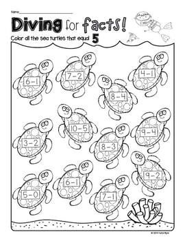 Print and Go! Ocean Math and Literacy (NO PREP