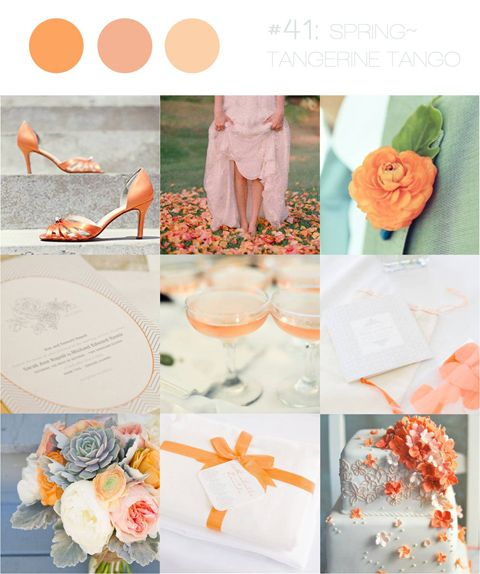 Tangerine Tango - spring wedding color. - LOVE LOVE LOVE the bouquet, the succulents and peonies are perfect !!!