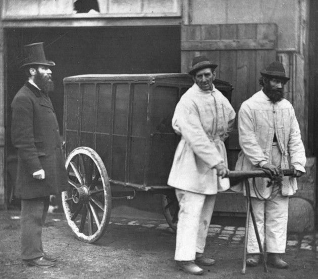 Some things are best left in the past though: Victorian public disinfectors sanitize the streets after an outbreak of smallpox (Photo by John Thomson/Getty Images)