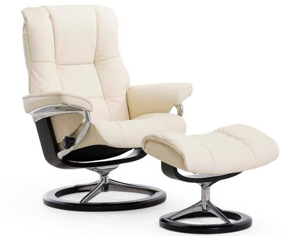 Fauteuil cuir blanc moderne inclinable stressless mayfair signature home chairs couches - Signature meubles ...