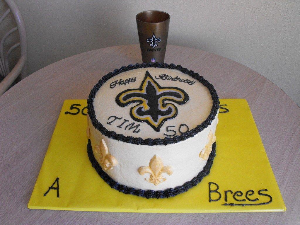 Astonishing 27 Best Photo Of Saints Birthday Cake Cake Birthday Cake Personalised Birthday Cards Veneteletsinfo