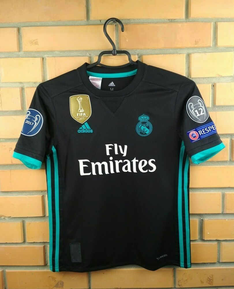 cd35c73d465 Advertisement(eBay) Real Madrid jersey kids 11-12 y. 2018 away shirt ...