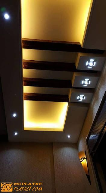 DECOR couloir | walls flooring & Ceiling ideas | False ceiling ...